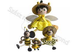 Fa méhecske kulcstartó nagy