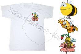 T-shirt cu albinuțe negru